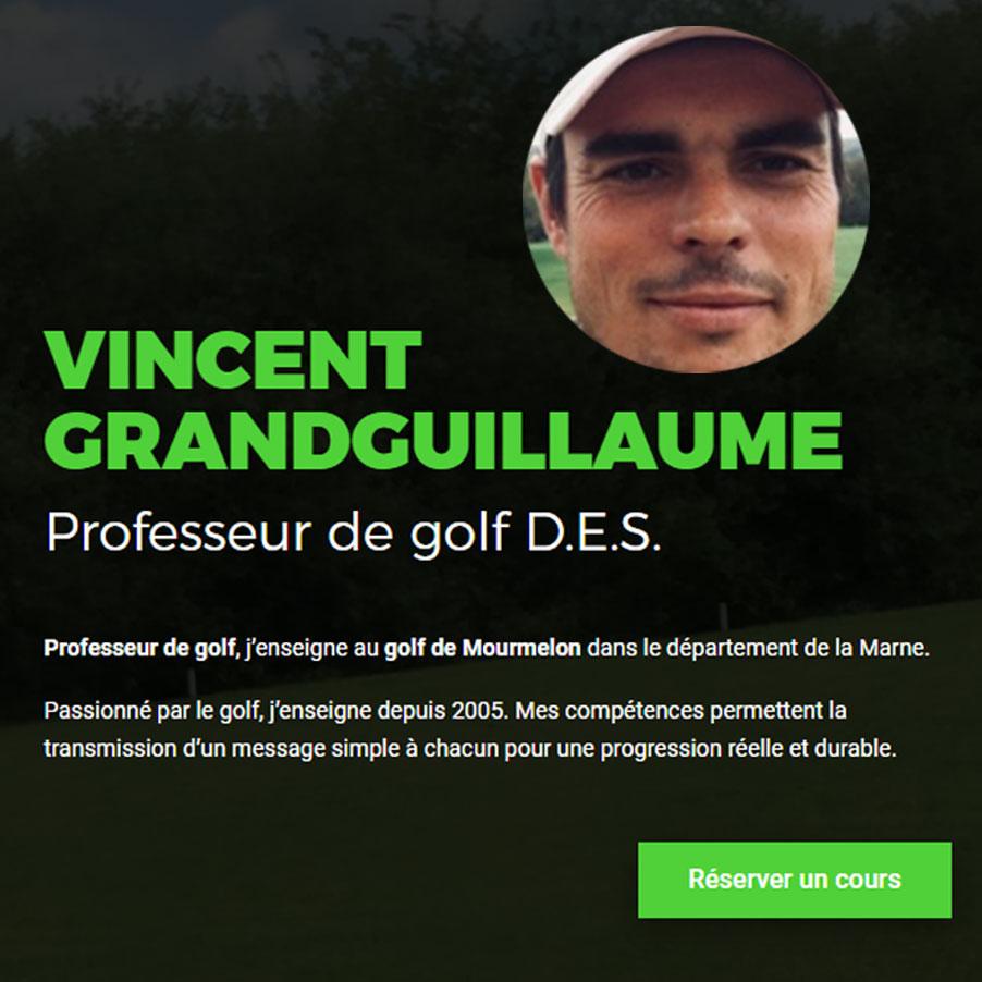 Vincent Grandguillaume, professeur de golf