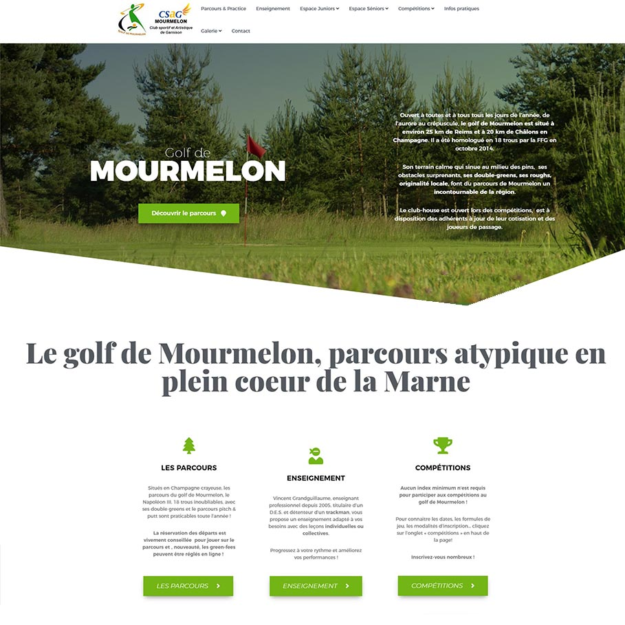 Site du golf de Mourmelon 2020
